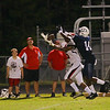 New Bern's #6 Tyreke McCarter makes a catch as New Bern defeats Durham Hillside 12 to 0  at Durham Hillside High School Friday August 22, 2014. (Photo by Jack Tarr/WRAL contributor.)