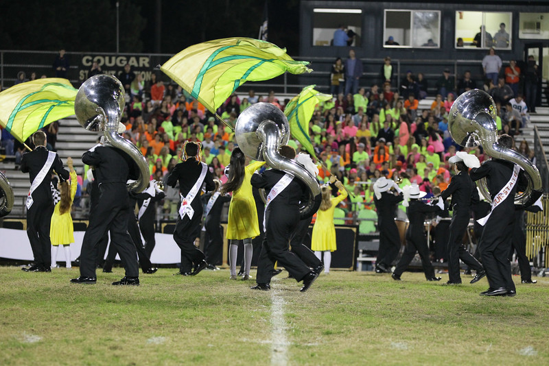 FAN CAM: Panther Creek defeats Apex 35 to 28 Friday night October 24, 2014.  (Photo by Jack Tarr/ WRAL Contributor