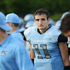 Panther Creek's  #11 Brenden Magner. Wake Forest rolls over Panther Creek 23 to 6 Friday August 22, 2014. (Photo by Jack Tarr/WRAL contributor.)