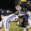 Millbrooks #34 Larry Rountree running in the open field as Millbrook gets by East Wake 34 to 32  Friday August 20, 2015. (WRAL contributor Jack Tarr)