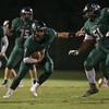 Braden  Mayo (2) of Green Hope High School. Fuquay Varina defeats Green Hope 36 to 26 Monday night September 28, 2015. (Photo by Jack Tarr/HighschoolOT.com contributor.)