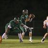 Tucker  Burkinshaw (17) of Green Hope High School. Fuquay Varina defeats Green Hope 36 to 26 Monday night September 28, 2015. (Photo by Jack Tarr/HighschoolOT.com contributor.)
