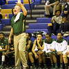 Pine Forest's head coach David May during the first round of NCHSAA State Basketball tournament game Monday February 25, 2013 (Photo by Jack Tarr)