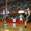 River Mill's  #2 Diajah Faucette takes a jumper during the NCHSAA 1A State Championship game Saturday March 16, 2013 (Photo by Jack Tarr)