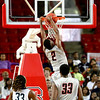 Winston-Salem Prep's #2 Mike Hughes dunks during the NCHSAA 1A Men's State Championship game Saturday March 16, 2013 (Photo by Jack Tarr)