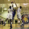 A blocked shot. Garner Rolls over East Wake Apex 84 to 53 Friday night January 24, 2013.(Photo by WRAL Contributor Jack Tarr)