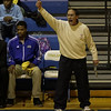 Garner coach Eddie Gray on the sidelines as Garner Rolls over East Wake Apex 84 to 53 Friday night January 24, 2013.(Photo by WRAL Contributor Jack Tarr)