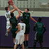 Holly Springs #33 Rencher takes a jumper as Green Hope defeats Holly Springs 66 to 61 Friday night January 10, 2014 at Holly Springs High School.(Photo by WRAL Contributor Jack Tarr)