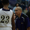 Holly Springs head coach as Green Hope defeats Holly Springs 66 to 61 Friday night January 10, 2014 at Holly Springs High School.(Photo by WRAL Contributor Jack Tarr)