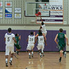 Holly Springs #4 Ryan with the lay up as Green Hope defeats Holly Springs 66 to 61 Friday night January 10, 2014 at Holly Springs High School.(Photo by WRAL Contributor Jack Tarr)