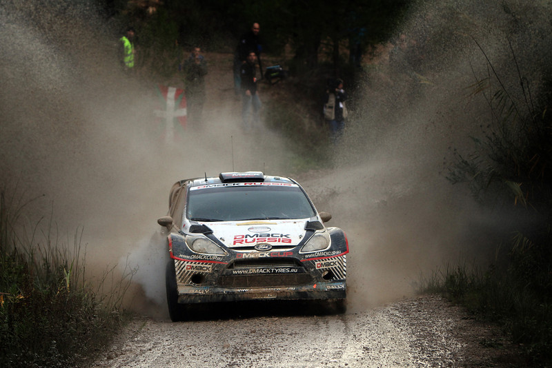 MOTORSPORT - WRC 2012 - RALLYE ESPAGNE - SALOU (ESP) - 8/11 TO 11/11/2012 - PHOTO : BASTIEN BAUDIN / AGENCE AUSTRAL - 22 NOVIKOV EVGENY - ILKA MINOR / FORD FIESTA - WRC / ACTION
