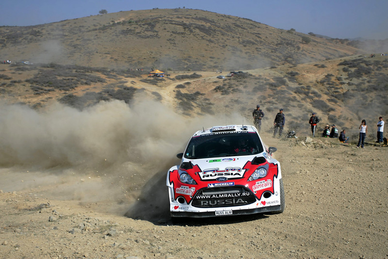 Evgeny Novikov (RUS) / Denis Giraudet - Ford Fiesta RS WRC. Day one, 2012 Rally Mexico