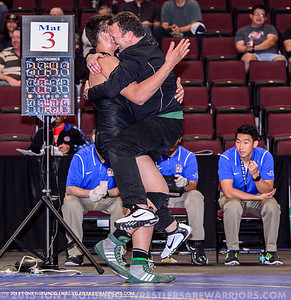 2015 HS WRESTLING: CIF: CONFINALS