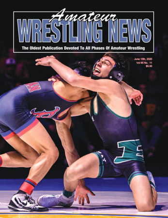 Amateur Wrestling News Cover, June, 2020