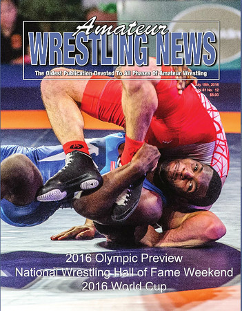 Amateur Wrestling News Cover, July, 2016