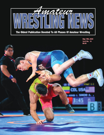 Amateur Wrestling News Cover, May, 2020