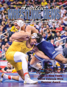 Amateur Wrestling News Cover, April, 2019