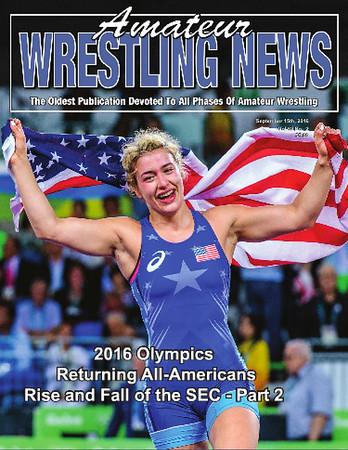 Amateur Wrestling News Cover, Sept, 2016