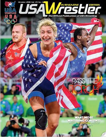 USA Wrestler Cover, Oct, 2017
