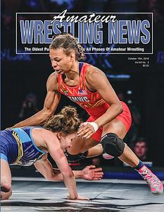 Amateur Wrestling News Cover, Oct, 2018