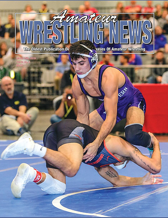 Amateur Wrestling News Cover, March, 2019