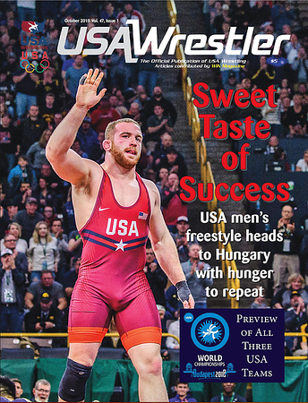 USA Wrestler Cover, Oct, 2018