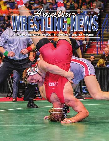Amateur Wrestling News Cover, Nov, 2017