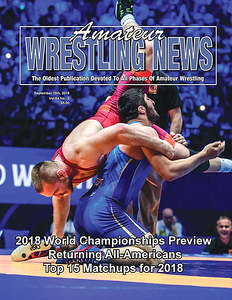 Amateur Wrestling News Cover, Sept, 2018