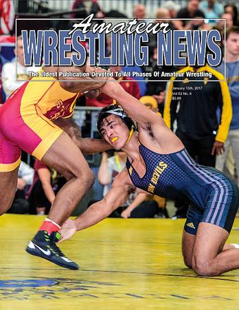Amateur Wrestling News Cover, Jan, 2017