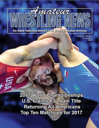 Amateur Wrestling News Cover, Sept, 2017