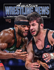 Amateur Wrestling News Cover, July, 2019
