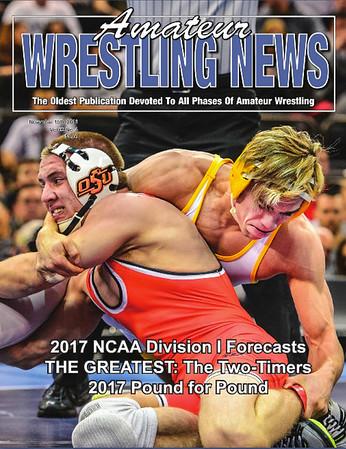 Amateur Wrestling News Cover, Nov, 2016
