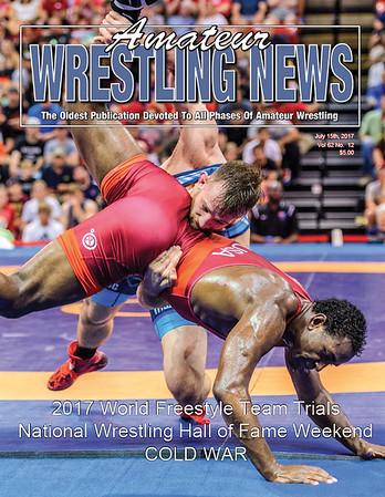Amateur Wrestling News Cover, July, 2017