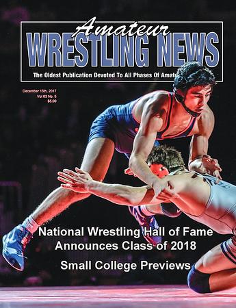 Amateur Wrestling News Cover, Dec, 2017