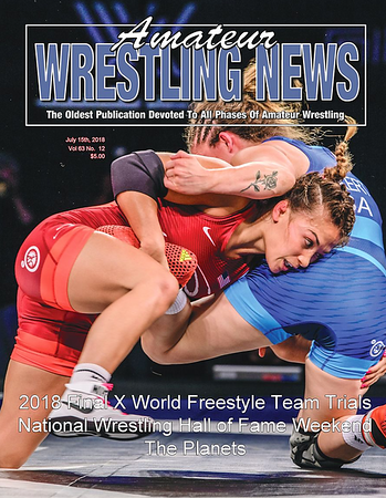 Amateur Wrestling News Cover, July, 2018