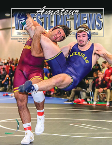 Amateur Wrestling News Cover, Dec, 2018