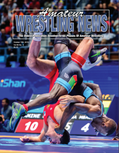 Amateur Wrestling News Cover, Oct, 2019
