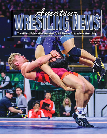 Amateur Wrestling News Cover, May, 2018