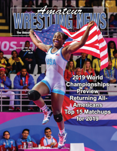 Amateur Wrestling News Cover, Sept, 2019