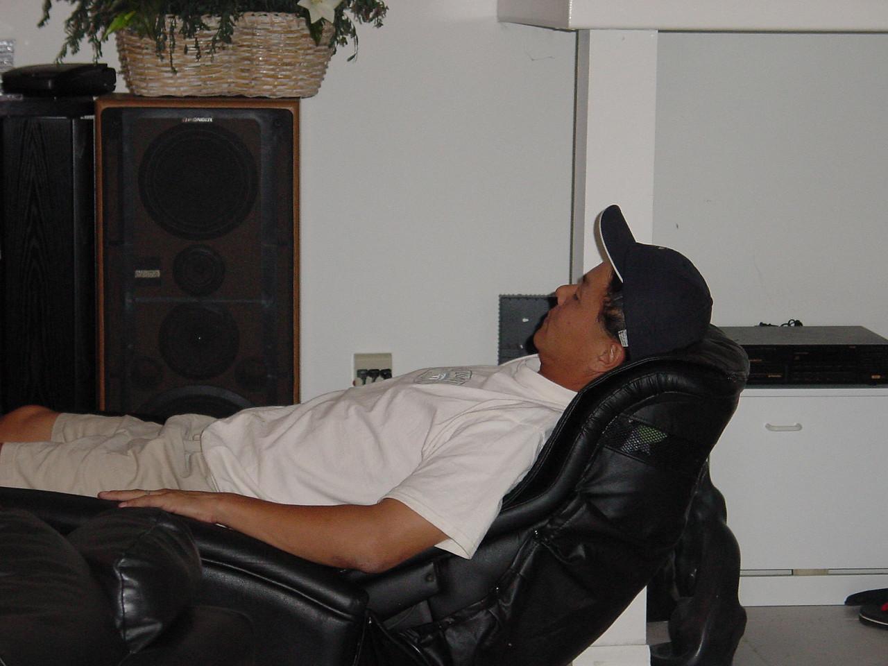 Joe in the amazing massage chair