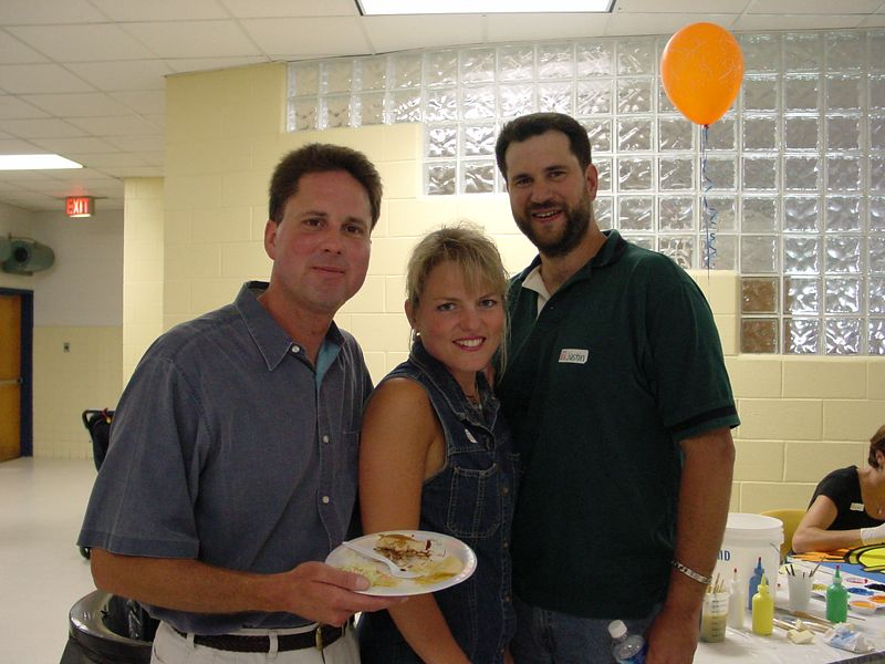Paul Dzierski, Karen Prentiss, & Justin Patton <br /> <br /> (Paul is still eating!)