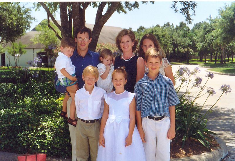 Brian Despard, with wife, Angela (TC WIlliams '83) and their 6 (count em...S-I-X) kids.
