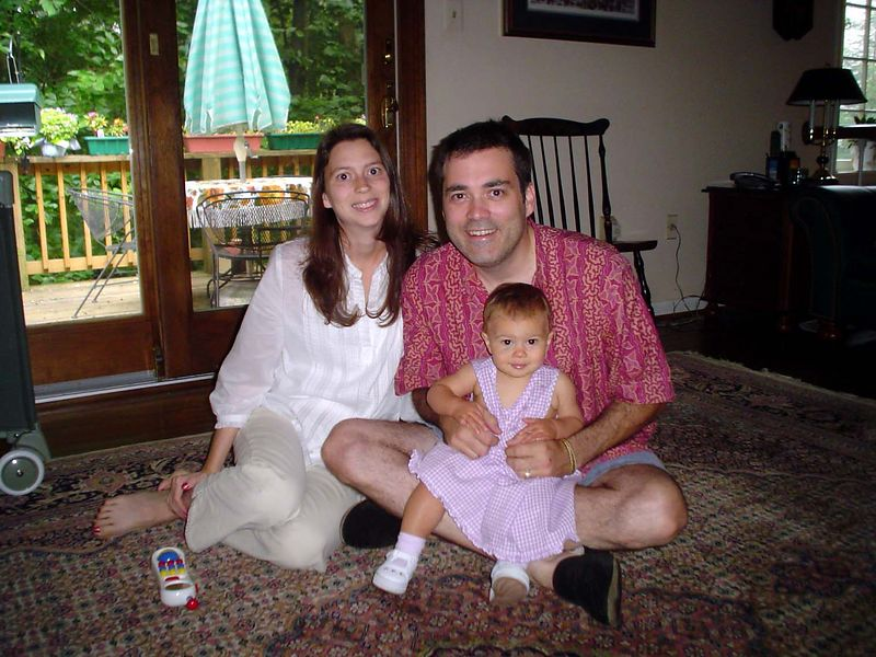 Chris Sabec, wife Jacqueline and their baby, Sierra