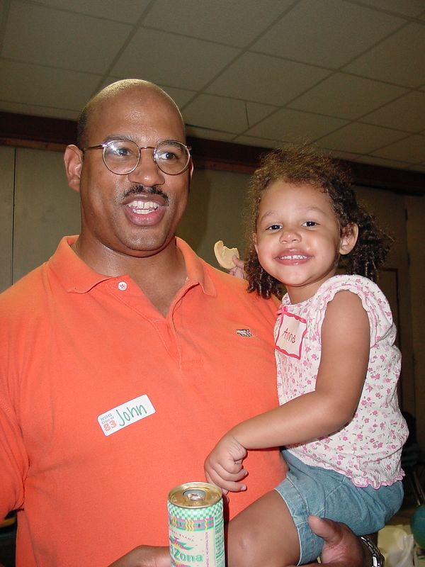 Commander John Fuller - with daughter Anna.<br /> <br /> She is so cute!