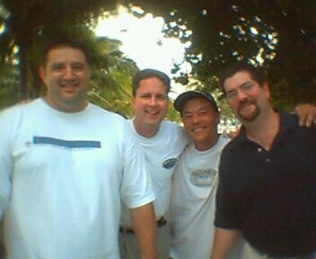 Dave, Paul, Joe & RB - South Beach, Miami - Nov '03