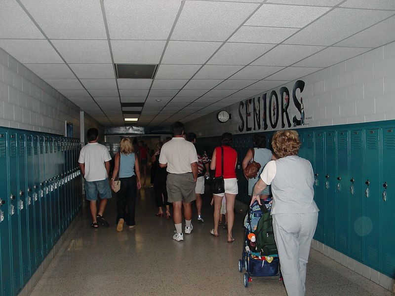 Touring the school