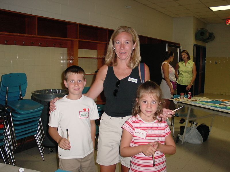 """Patty """"The Frog"""" Meyer (Pile) with children Justin & Lauren"""