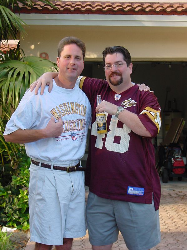 Paul D. & RB - Getting ready for Skins/Fins game