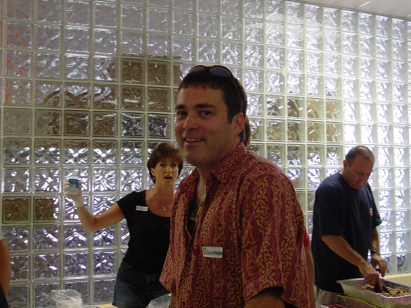 Chris Sabec at Picnic event (Stacy Trapp & Bill Gibson in background)