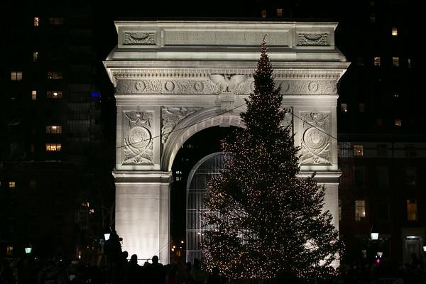 Washington Square Park Tree Lighting 2017